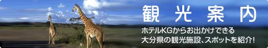 観光案内 ホテルKGからお出かけできる大分県の観光施設、スポットを紹介!